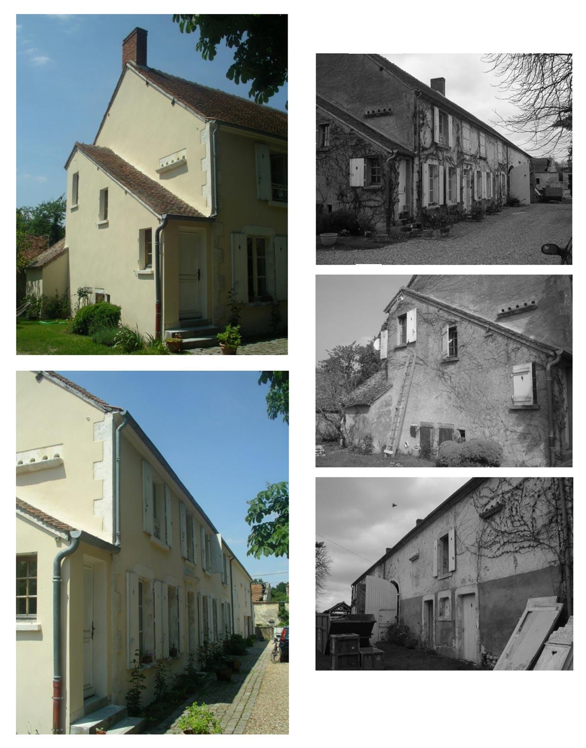 Transformation d'une grange en garage, réfection de façades Cosne-sur-Loire 58