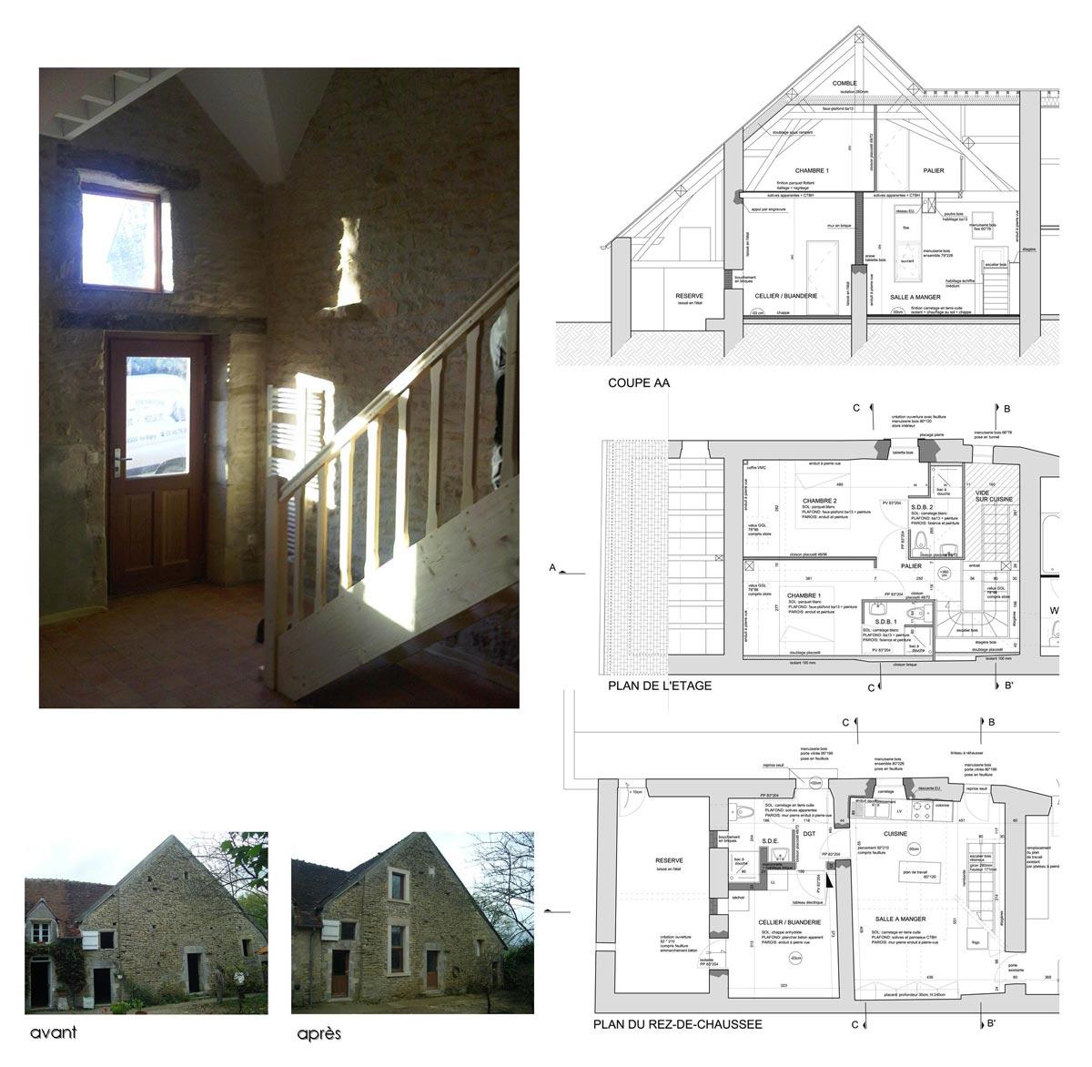 Réaménagement d'une habitation à Donzy 58