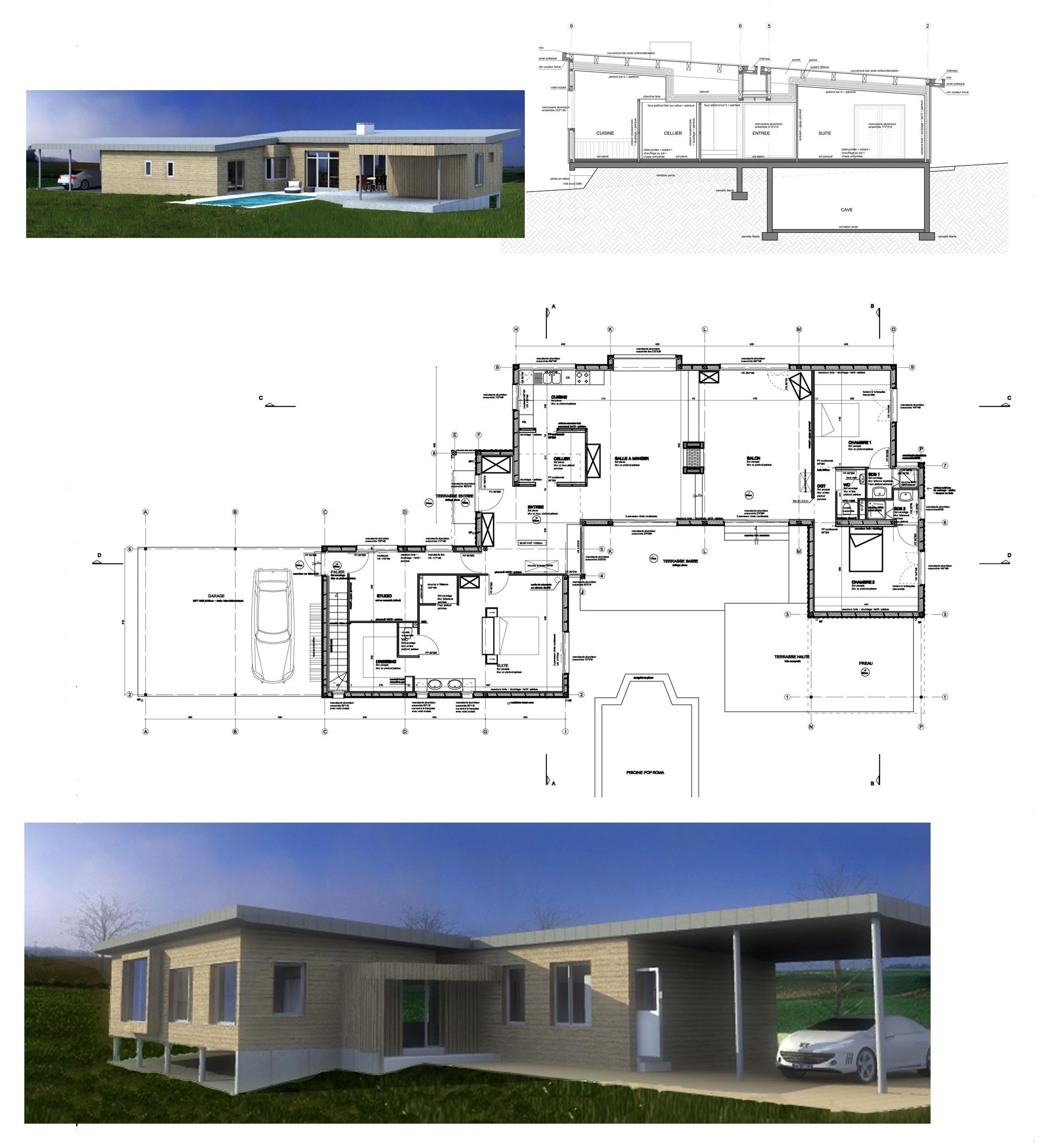 Construction d 39 une maison individuelle thauvenay 18 for Construction d une maison individuelle