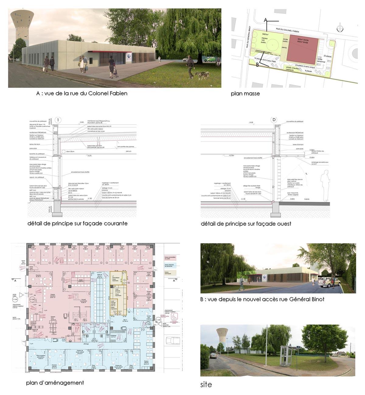Bâtiment tertiaire label BBC à Cosne sur Loire 58