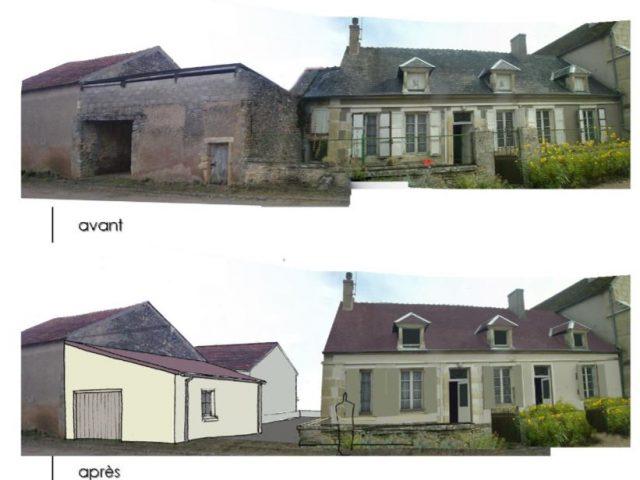 Réalisation de 2 logements dans l'ancien presbytère à Beaulieu